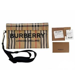 BURBERRY Heritage Print Zip Pouch/Wristlet NWT